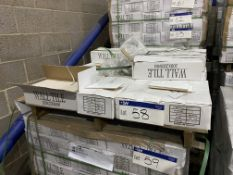 Approx. 15 Boxes of White Wall Tiles, item no. WGI