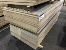 Approx. 53 Sheets of Grey Gloss Two Faced MDF, each sheet approx. 2400mm x 1200mm x 18mm, as set out