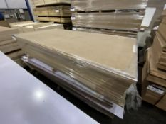 Approx. 27 Sheets of White Matt One Faced MDF, each sheet approx. 2400mm x 1200mm x 18mm, as set out