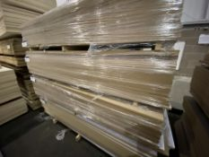 Approx. 25 Sheets of White Matt Two Faced MDF, each sheet approx. 2400mm x 1200mm x 18mm, as set out
