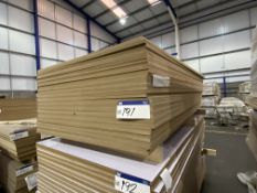 Approx. 34 Sheets of White Gloss One Faced MDF, each sheet approx. 2400mm x 1200mm x 18mm, as set