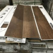 45 Boxes of SPC Flooring Dark Oak Style Click Syst
