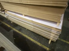 Approx. 30 Sheets of White Gloss One Faced MDF, each sheet approx. 2400mm x 1200mm x 18mm, as set