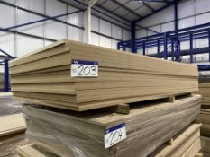 Approx. 17 Sheets of MDF, each sheet approx. 2400mm x 1200mm x 25mm, as set out in one stack
