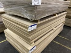 Approx. 18 Sheets of MDF, each sheet approx. 2400mm x 1200mm x 25mm, as set out in one stack