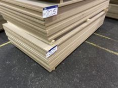 Approx. 19 Sheets of MDF, each sheet approx. 2400mm x 1200mm x 25mm, as set out in one stack