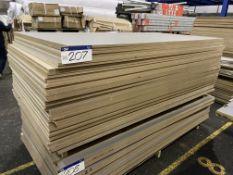 Approx. 41 Sheets of Grey Matt One Faced MDF, each sheet approx. 2400mm x 1200mm x 18mm, as set