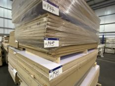 Approx. 25 Sheets of White Gloss One Faced MDF, each sheet approx. 2400mm x 1200mm x 18mm, as set