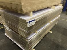 Approx. 24 Sheets of White Matt One Faced MDF, each sheet approx. 2400mm x 1200mm x 18mm, as set out