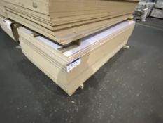 Approx. 34 Sheets of White Matt Two Faced MDF/ Grey Gloss Two Faced MDF, each sheet approx. 2400mm x