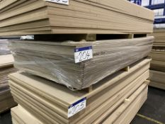 Approx. 20 Sheets of MDF, each sheet approx. 2400mm x 1200mm x 18mm, as set out in one stack