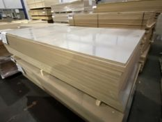 Approx. 25 Sheets of Grey Gloss Two Faced MDF, each sheet approx. 2400mm x 1200mm x 18mm, as set out