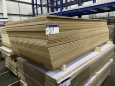 Approx. 35 Sheets of White Matt One Faced MDF, each sheet approx. 2400mm x 1200mm x 18mm, as set out
