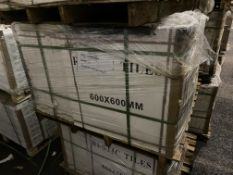 40 Boxes of Grey Cement Floor Tiles, 600mm x 600mm