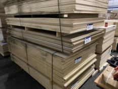 12 Sheets of White Faced One Side MDF each sheet approx. 2440mm x 1200m x 18mm, as set out in stack