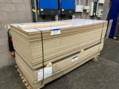 Approx. 26 Sheets of Grey/ White Matt MDF, each sheet approx. 2400mm x 1200mm x 18mm, as set out