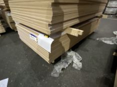 Approx. 26 Sheets of White Gloss One Faced MDF, each sheet approx. 2400mm x 1200mm x 18mm, as set