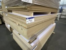 Approx. 30 Sheets of White Matt Two Faced MDF/ Grey Gloss Two Faced MDF, each sheet approx. 2400mm x