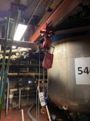 One Tonne Pneumatic Chain Hoist, with carriage and
