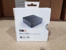 25 Boxed unused Tibo Bond Mini Wi-Fi Audio Streamers, manufacturers model number BOND MINI,