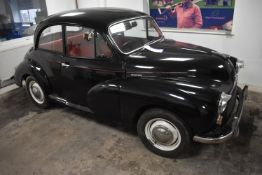Morris MINOR 1000 TWO DOOR CLASSIC SALOON, registration no. WHP 661J, date first registered 23/03/