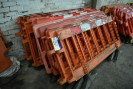 Approx. 13 Assorted Plastic Barriers, up to approx. 1.9m long