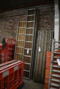 Three Alloy Framed Staging Boards, each approx. 460mm x 3.6m