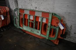 Five Assorted Plastic Barriers, as set out