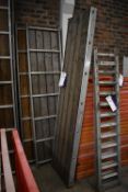 Three Alloy Framed Staging Boards, each approx. 600mm x 2.4m