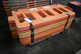 Approx. 13 Oaklands-Group Plastic Barriers, each approx. 1.7m long