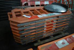 Approx. 15 Melba Swintex Plastic Barriers, each approx. 1.9m long