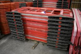 Approx. 20 Melba Swintex Plastic Barriers, each approx. 1.9m long