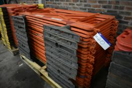 22 Plastic Barriers, each approx. 1.9m wide