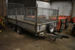 Ifor Williams LM146G 3500kg TWIN AXLE TRAILER, serial no. SCK60000020335962, 4.3m long on body, with