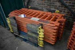 14 Oxford Plastics Avalon Plastic Barriers, approx. 1.8m wide