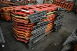 23 Oaklands-Group Plastic Barriers, each approx. 1.85m long
