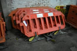 Approx. 14 Assorted Plastic Barriers, up to approx. 1.9m long