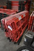 Six Plastic Barriers, each approx. 2m long