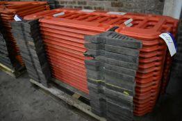 18 Melba Swintex Plastic Barriers, each approx. 1.9m wide