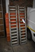 Two Alloy Vehicle Ramps, each approx. 380mm x 1.9m long