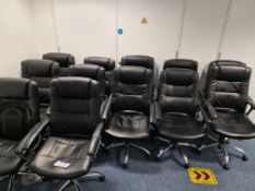 Ten leather swivel armchairs (Located at Q2 Light