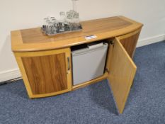 Inlaid Side Cabinet with Integral Fridge (Located