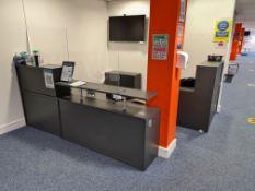 Grey Veneered Reception Suite, includes 2 door cab