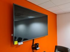 "LG 75"" Wall Mounted Flat Screen Television c/w LOG"