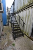 Steel Staircase (to upper storage container), 2.74m high to platform (There will be a removal/