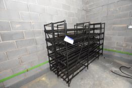 Two Multi-Tier Steel Framed Battery Charging Racks, each approx. 2.4m x 490mm x 1.7m high (There