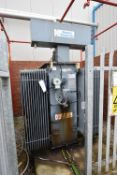 Bowers 2500kVA Oil Cooled Transformer, serial no. TR50128, year of manufacture 2002 (There will be a