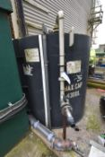 4,300 litre max. cap. Storage Tank, approx. 1.8m dia. x 1.8m deep, with tank level indicator (