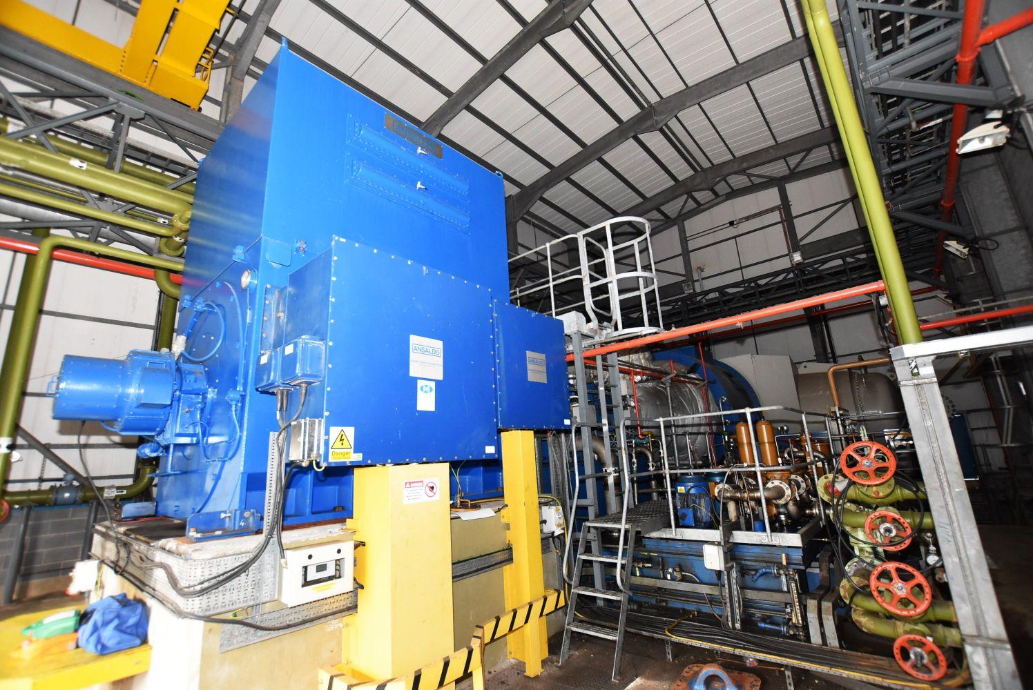 Steam Turbine Generator, Portal Framed Building, Overhead Crane and Associated Power Plant Generation Equipment