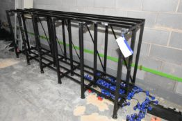 Steel Framed Battery Charging Rack, approx. 3.14m x 750mm x 1.25m high (There will be a removal/